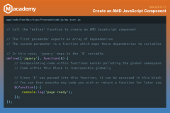 Create an AMD JavaScript Component