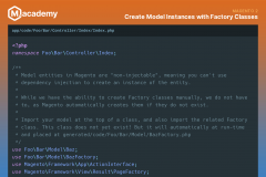 Create Model Instances with Factory Classes